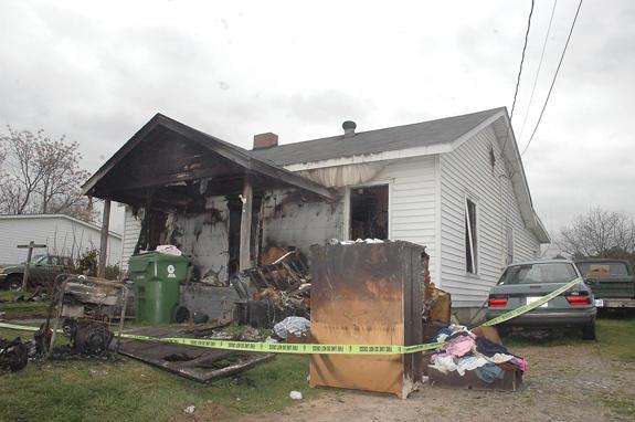 Fire guts home