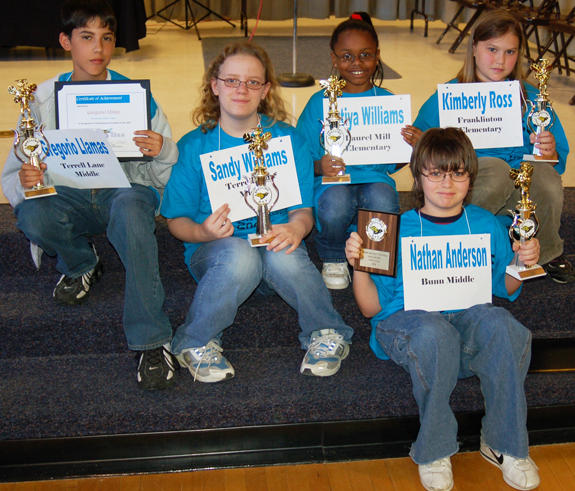 Franklin County Schools Spelling Bee winners
