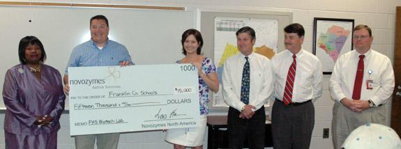 Novo gives $15,000 to schools
