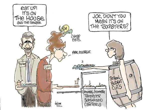 Editorial Cartoon: Let Them Eat Cake