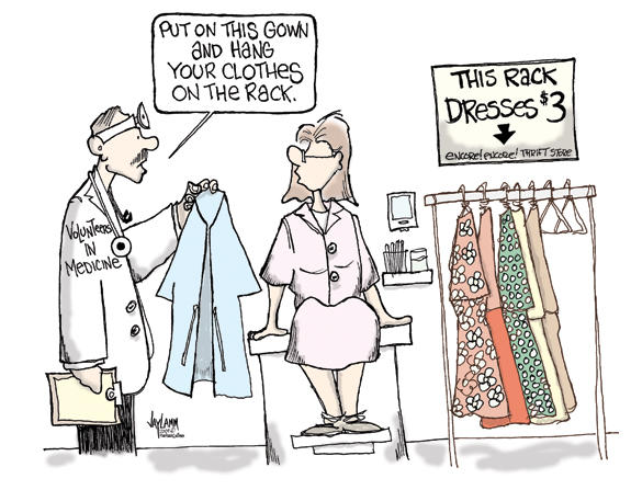 Editorial Cartoon: Hand-Me-Down-Docs