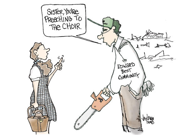 Editorial Cartoon: WindFall