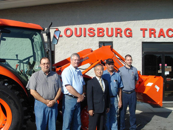 Kubota president visits Louisburg Tractor
