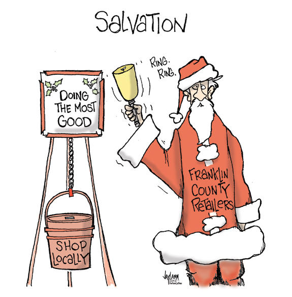 Editorial Cartoon: On Dasher, On Prancer, On Line Shopping and Blitzen