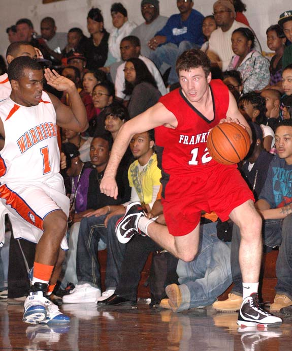 DUSTIN ON THE DRIBBLE