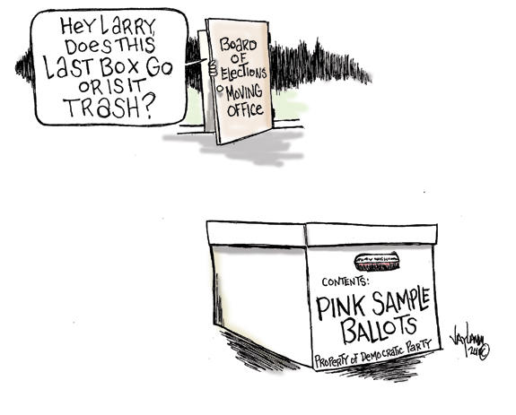 Editorial Cartoon: Petty in Pink