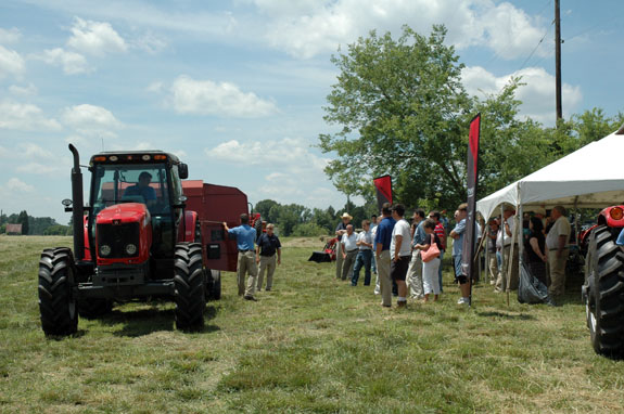 New line of utility tractors introduced at demonstration