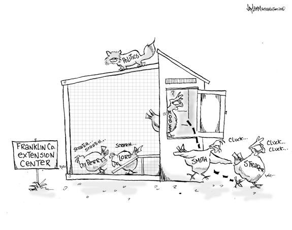Editorial Cartoon: Pox in the Hen House