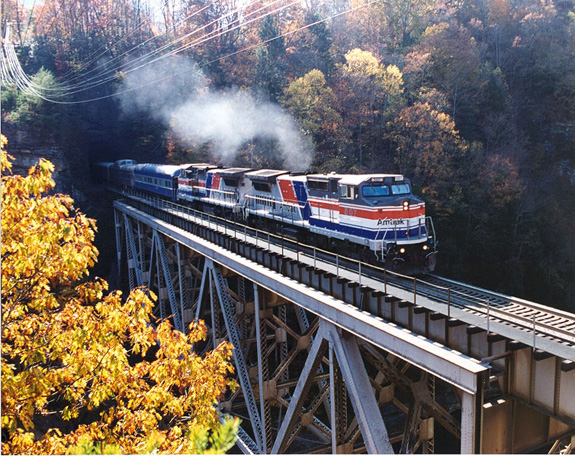 Day trip train excursions offered to Roanoke, Va. and Asheville