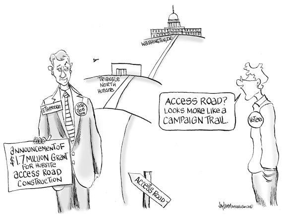 Editorial Cartoon: Campaign Contribution