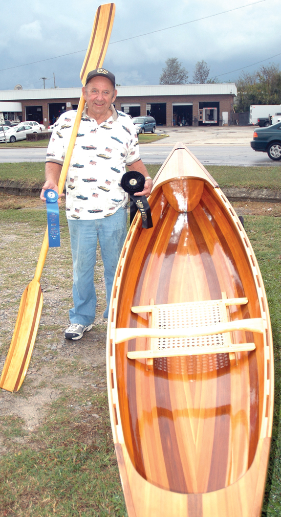Novice canoe builder places at NC State Fair