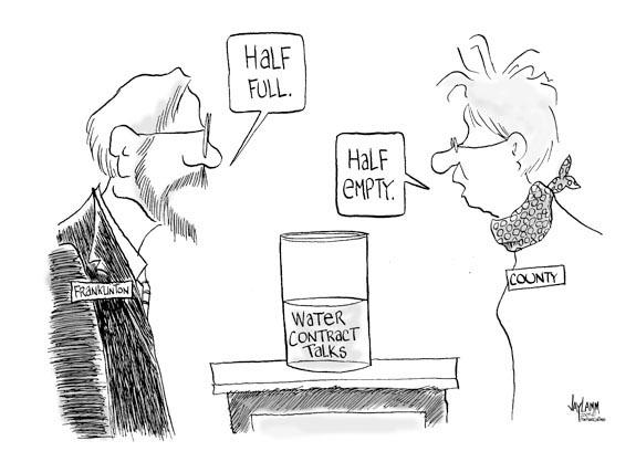Editorial Cartoon: Wet Suit