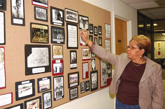 Louisburg displays black history exhibit