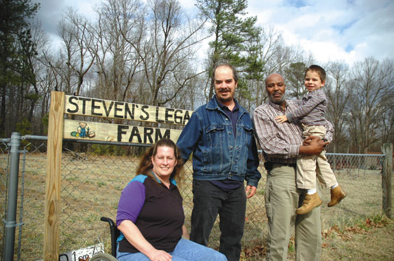 Family begins organic farming to supply son with a healthier diet