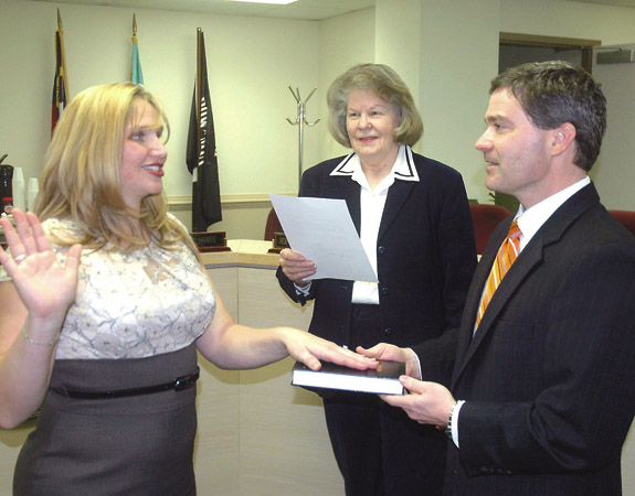 Davis sworn in as Register of Deeds