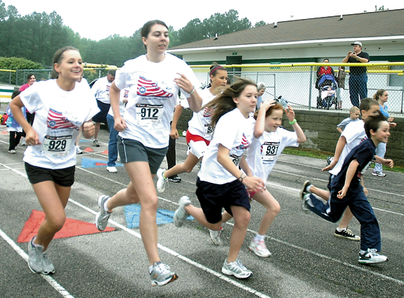 Weather doesn't slow Bunn's first Fun Run
