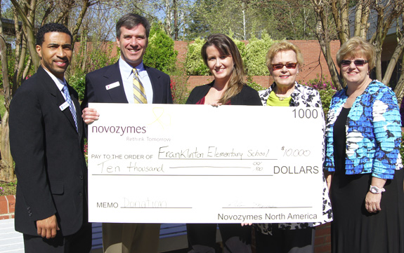 Novozymes donation makes tutoring program possible