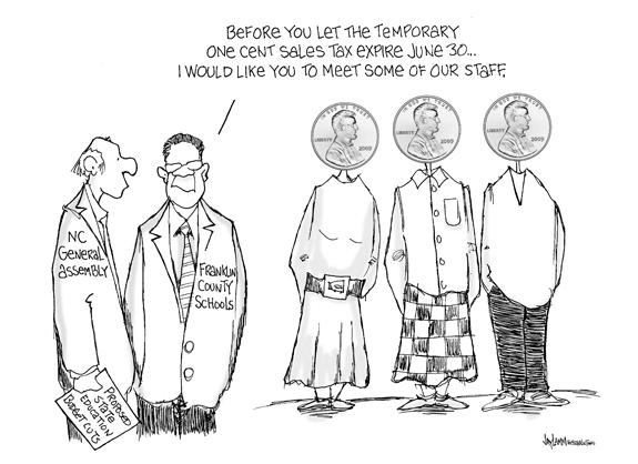 Editorial Cartoon: Penny Wise