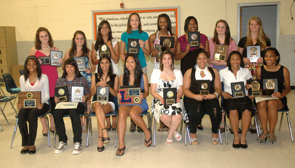 GIRLS HONOREES FOR LHS