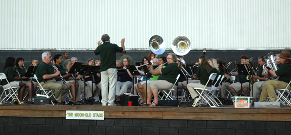 VGCC Community Band performs at historic outdoor movie theater