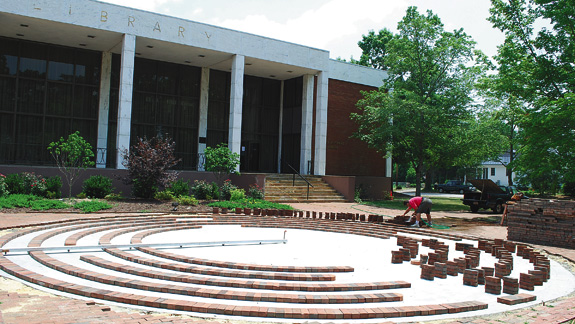 Hinton breaks ground on labyrinth project Louisburg College