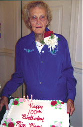 Williams celebrates 100th birthday with family, church