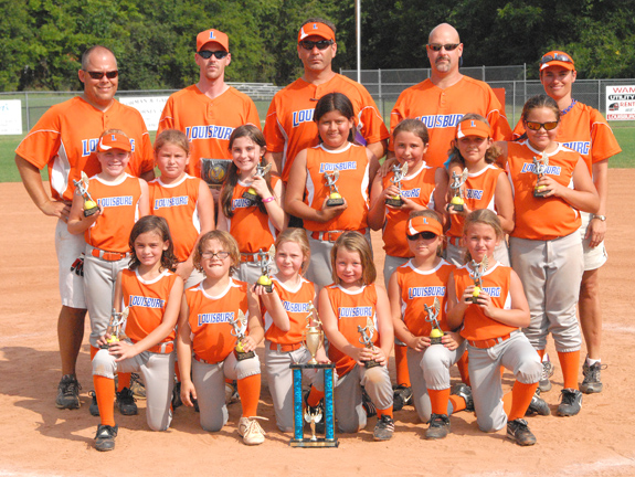 LOUISBURG ALL-STARS -- 8-UNDER SECOND-PLACE FINISHERS
