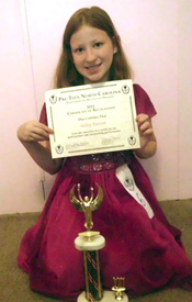 Blanton wins award at Pre-Teen NC