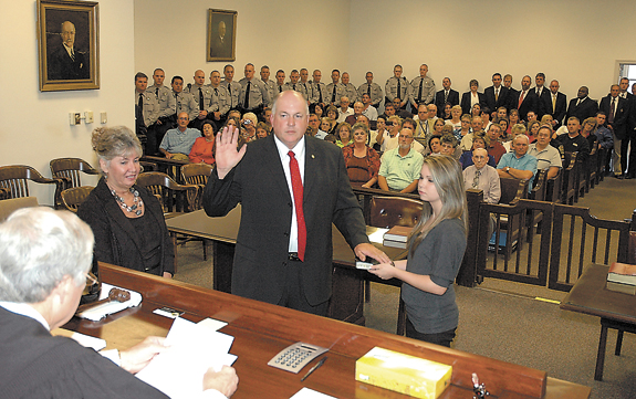 Jones sworn in as sheriff