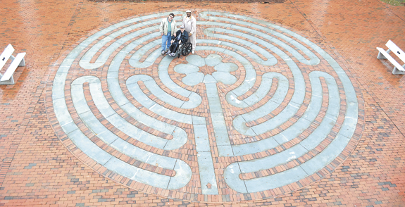 Louisburg College dedicates labyrinth