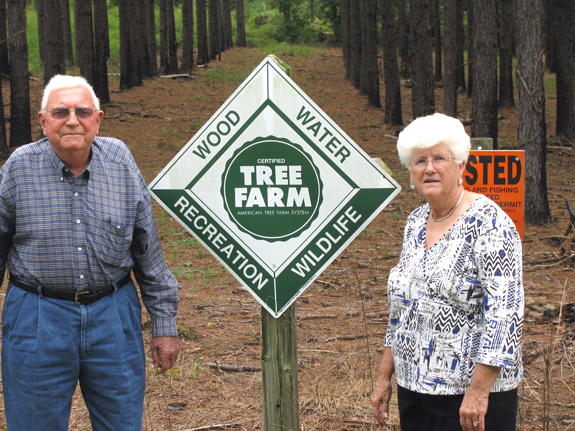 Gupton honored as outstanding tree farmer