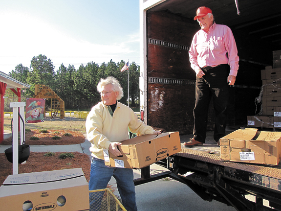 Turkeys headed to tables of those in need