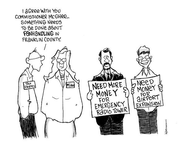 Editorial Cartoon: Throwing Good Money Behind Bad