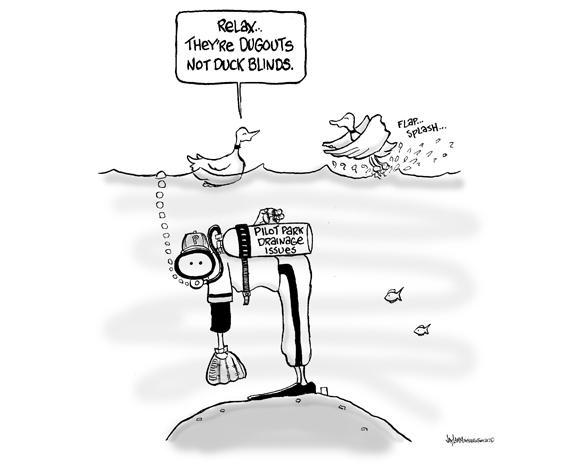 Editorial Cartoon: Cartoon Bean Ball