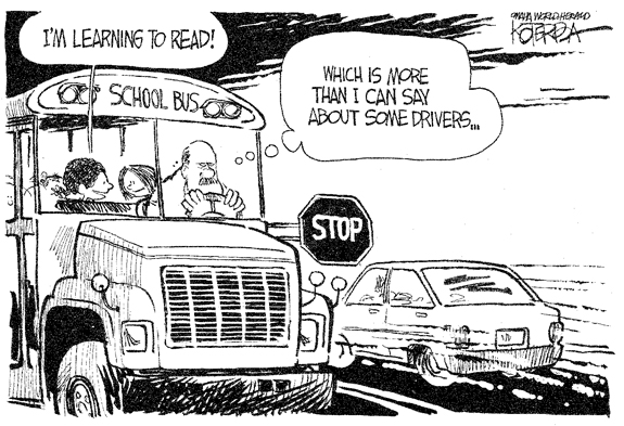 Editorial Cartoon: School Bus