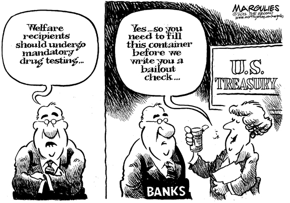 Editorial Cartoon: Drug Test