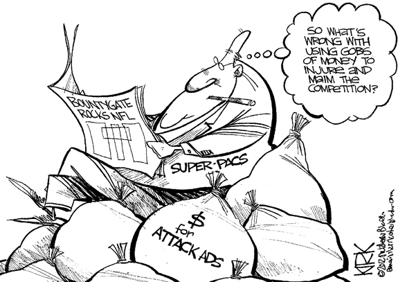 Editorial Cartoon: Super Pac