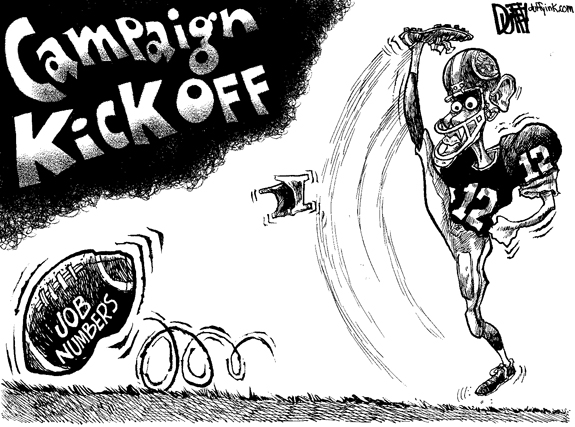 Editorial Cartoon: Obama Kickoff