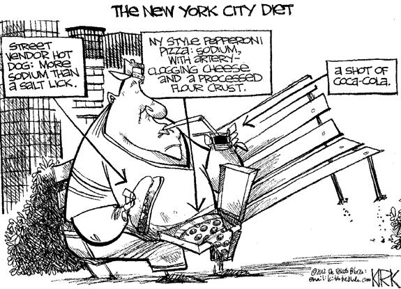 Editorial Cartoon: NYC Diet