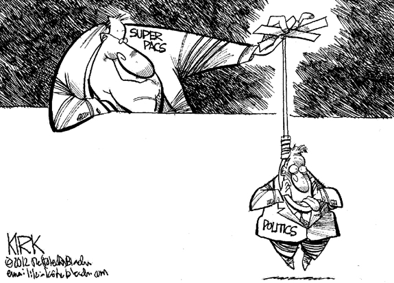 Editorial Cartoon: Super Pacs