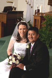 <i>Couple united in church ceremony</i>