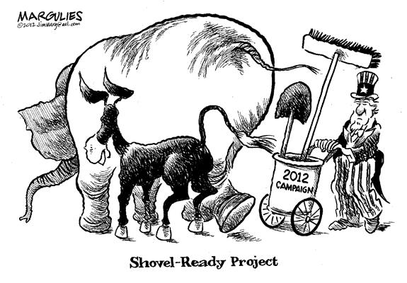 Editorial Cartoon: Shovel-Ready