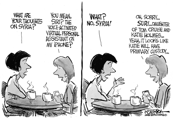 Editorial Cartoon: Syria?
