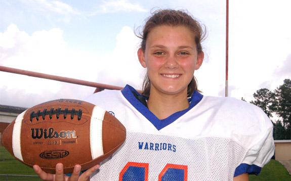 Kelsey Kicks 'Em For Warriors