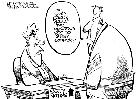 Editorial Cartoon: Negative Ads