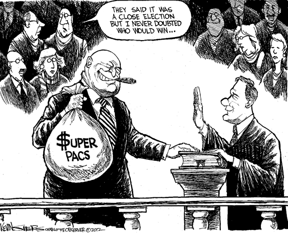 Editorial Cartoon: Superpacs
