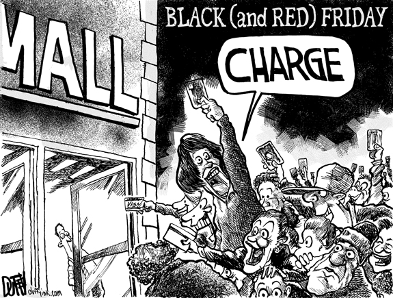 Editorial Cartoon: Black Friday