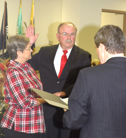 <i>Commissioners take oaths</i>