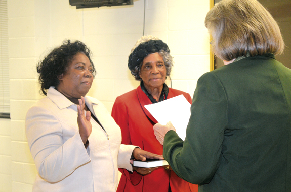 <i>Two county school board members take oaths of office</i>