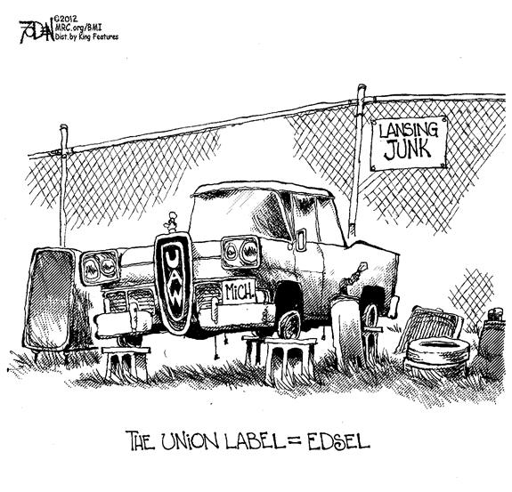 Editorial Cartoon: Union Label